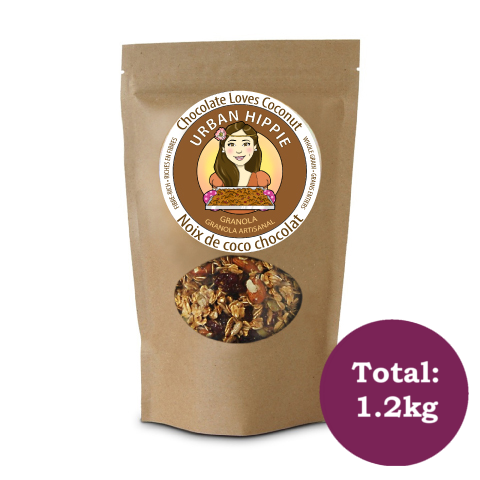 Bag of Urban Hippie Chocolate Loves Coconut Granola