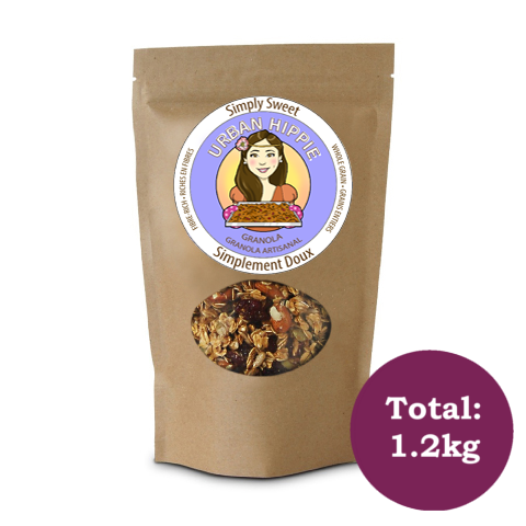 Bag of Urban Hippie Simply Sweet Granola