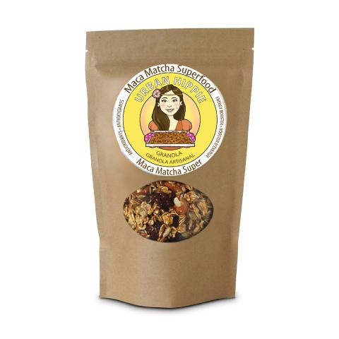 Bag of Urban Hippie Maca Matcha Superfood Granola Cereal