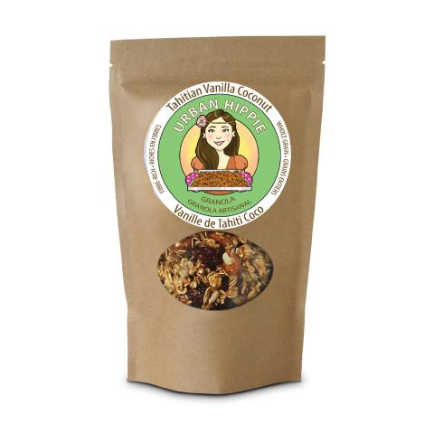 Bag of Urban Hippie Tahitian Vanilla Coconut Granola