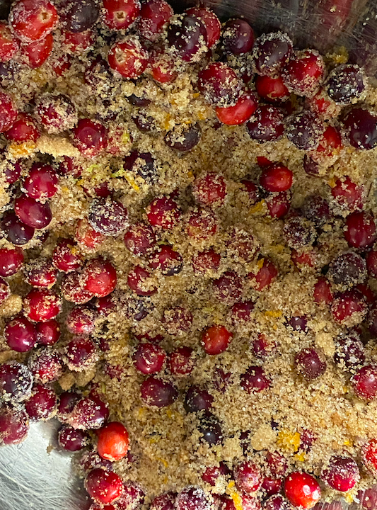 Holiday Apple Cranberry Crisp with Urban Hippie Granola Recipe